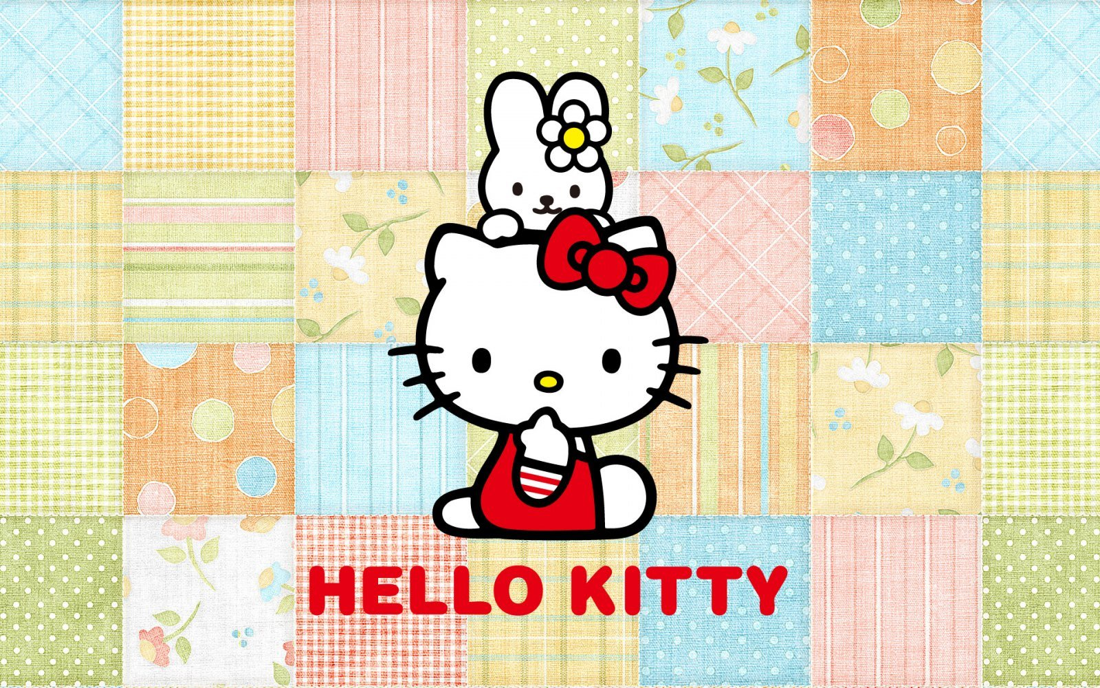 Fondo colorido Hello Kitty