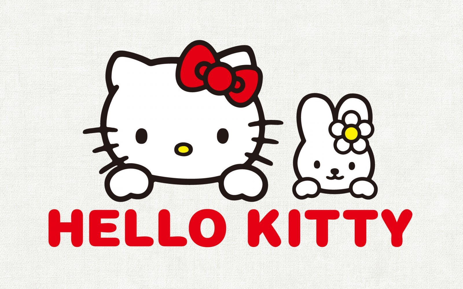 Fondo gris de Hello Kitty