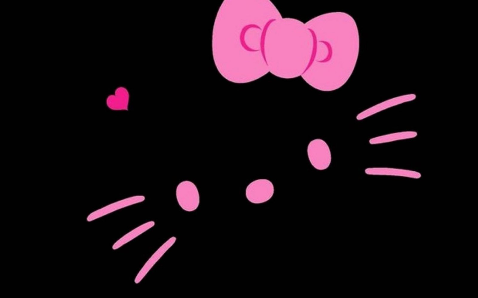 Fondo negro de Hello Kitty