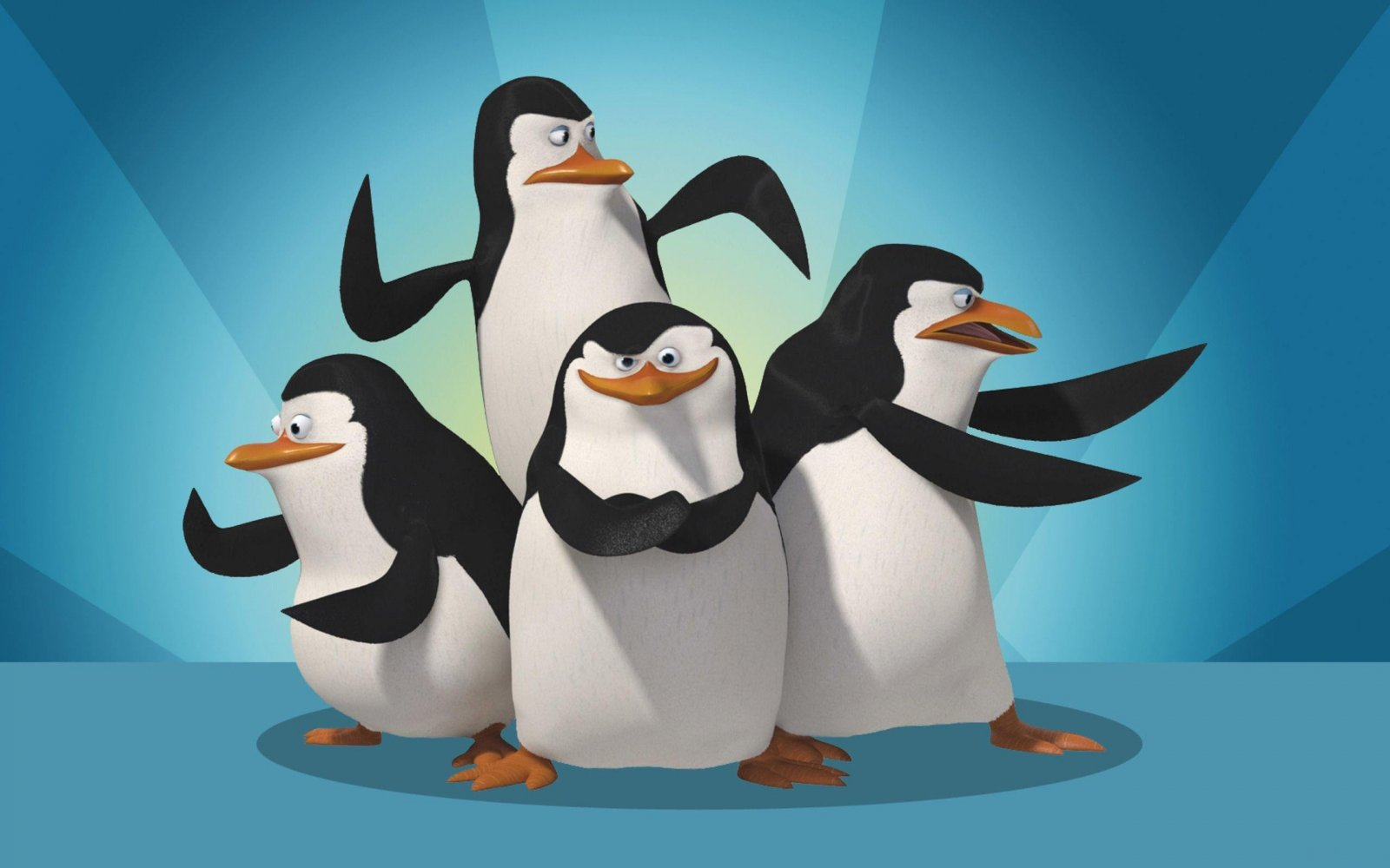 Skipper, Kowalski, Rico y Private